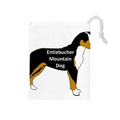 Entlebucher Mt Dog Name Silo Color Drawstring Pouches (Medium)