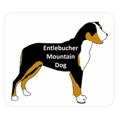 Entlebucher Mt Dog Name Silo Color Double Sided Flano Blanket (Small)
