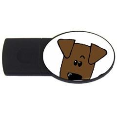 Peeping Chocolate Lab USB Flash Drive Oval (1 GB)