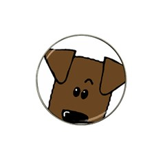 Peeping Chocolate Lab Hat Clip Ball Marker (4 pack)