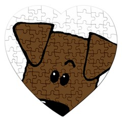 Peeping Chocolate Lab Jigsaw Puzzle (Heart)