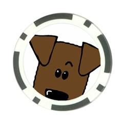 Peeping Chocolate Lab Poker Chip Card Guard
