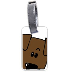 Peeping Chocolate Lab Luggage Tags (One Side)