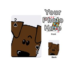Peeping Chocolate Lab Playing Cards 54 (Mini)
