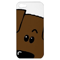 Peeping Chocolate Lab Apple iPhone 5 Hardshell Case
