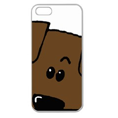 Peeping Chocolate Lab Apple Seamless iPhone 5 Case (Clear)