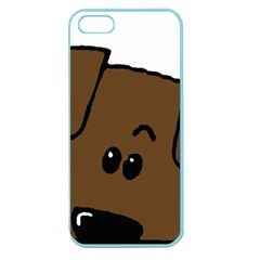 Peeping Chocolate Lab Apple Seamless iPhone 5 Case (Color)