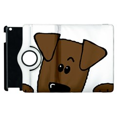 Peeping Chocolate Lab Apple iPad 2 Flip 360 Case