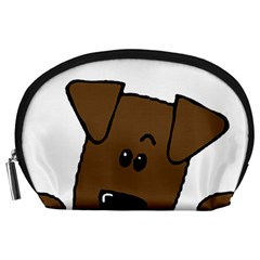 Peeping Chocolate Lab Accessory Pouches (Large)