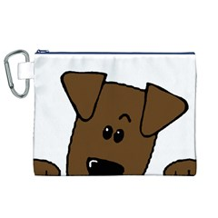 Peeping Chocolate Lab Canvas Cosmetic Bag (XL)