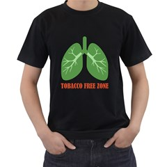 Tobacco Free Zone Men s T-Shirt (Black)