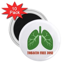 Tobacco Free Zone 2.25  Magnets (10 pack)