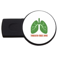 Tobacco Free Zone USB Flash Drive Round (4 GB)