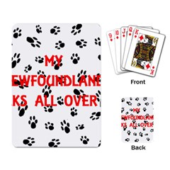 My Newfie Walks On Me Playing Card