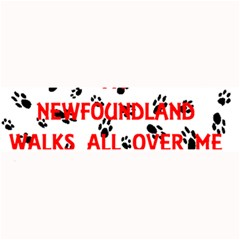 My Newfie Walks On Me Large Bar Mats