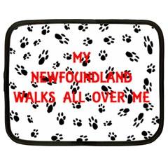 My Newfie Walks On Me Netbook Case (xl)