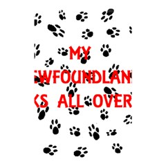 My Newfie Walks On Me Shower Curtain 48  x 72  (Small)