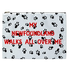 My Newfie Walks On Me Cosmetic Bag (XXL)
