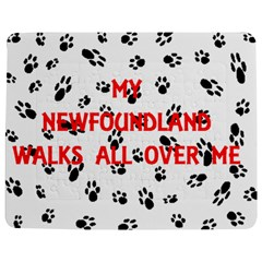 My Newfie Walks On Me Jigsaw Puzzle Photo Stand (Rectangular)