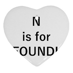 N Is For Newfoundland Ornament (Heart)