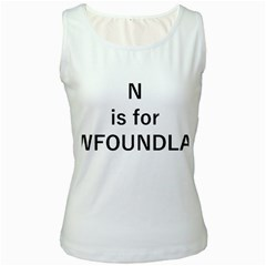 N Is For Newfoundland Women s White Tank Top