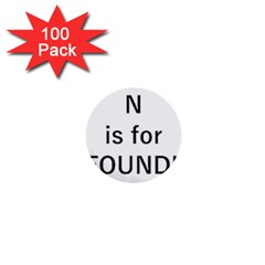 N Is For Newfoundland 1  Mini Buttons (100 pack)