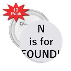 N Is For Newfoundland 2.25  Buttons (10 pack)