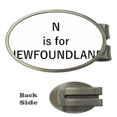 N Is For Newfoundland Money Clips (Oval)