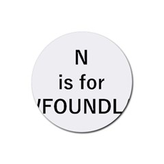 N Is For Newfoundland Rubber Round Coaster (4 pack)