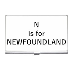 N Is For Newfoundland Business Card Holders