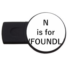 N Is For Newfoundland USB Flash Drive Round (2 GB)