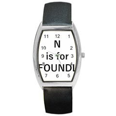 N Is For Newfoundland Barrel Style Metal Watch