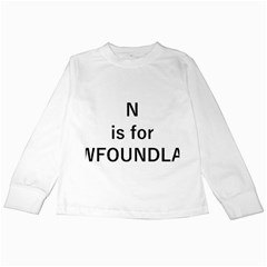 N Is For Newfoundland Kids Long Sleeve T-Shirts