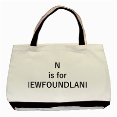 N Is For Newfoundland Basic Tote Bag (Two Sides)