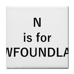 N Is For Newfoundland Face Towel