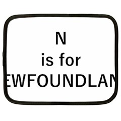 N Is For Newfoundland Netbook Case (XXL)