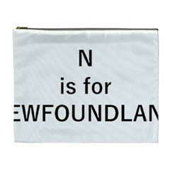 N Is For Newfoundland Cosmetic Bag (xl)