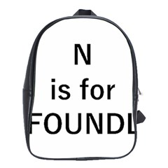 N Is For Newfoundland School Bags(Large)