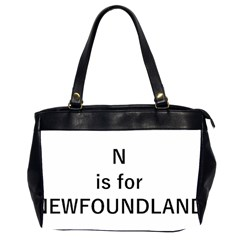 N Is For Newfoundland Office Handbags (2 Sides)