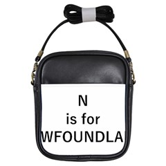 N Is For Newfoundland Girls Sling Bags