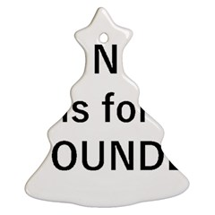 N Is For Newfoundland Ornament (Christmas Tree)