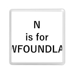 N Is For Newfoundland Memory Card Reader (Square)