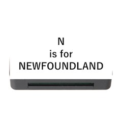 N Is For Newfoundland Memory Card Reader with CF