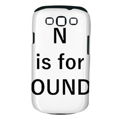 N Is For Newfoundland Samsung Galaxy S III Classic Hardshell Case (PC+Silicone)