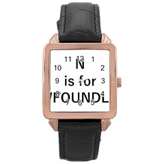 N Is For Newfoundland Rose Gold Leather Watch
