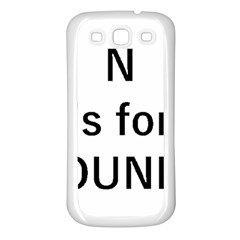 N Is For Newfoundland Samsung Galaxy S3 Back Case (White)