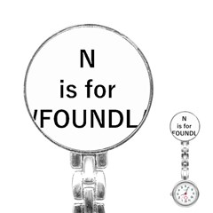 N Is For Newfoundland Stainless Steel Nurses Watch