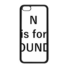 N Is For Newfoundland Apple iPhone 5C Seamless Case (Black)