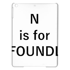 N Is For Newfoundland iPad Air Hardshell Cases