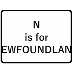 N Is For Newfoundland Double Sided Fleece Blanket (Large)